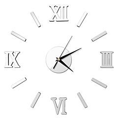 Acrylic Mirror Wall Stickers Diy Fashion Wall Clock Silent Clock Tick Rome
