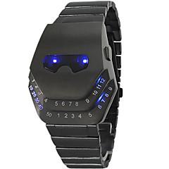 Masculino Relógio Esportivo Digital LED Aço Inoxidável Banda Relógio de Pulso Preta
