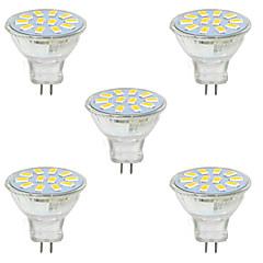 3W GU4(MR11) Inredningsglödlampa MR11 12 SMD 5730 380LM lm Varmvit / Kallvit Dekorativ 9-30 V 5 st