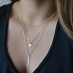 Women's Pendant Necklaces Chain Necklaces Layered Necklaces Lariat Y Necklaces Alloy Fashion Durable Simple Style Silver Golden Jewelry