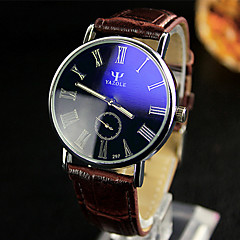 YAZOLE Men's Dress Watch Wrist watch Quartz / Leather Band Casual Black White Red Brown