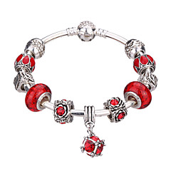 Women's New European Style Fashion Simple Heart Wings Charm Bracelet #YMGP1007