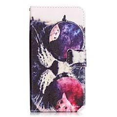 flip glazen kat pu lederen soft portemonnee case cover voor Samsung Galaxy Note 5 rand noot 5