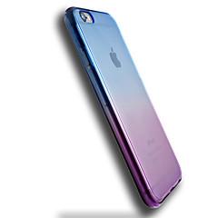 For iPhone 6 etui iPhone 6 Plus etui Transparent Etui Bagcover Etui Farvegradient Blødt TPU for AppleiPhone 6s Plus/6 Plus iPhone 6s/6