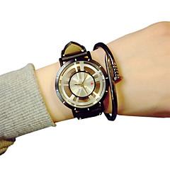 Men's Fashion Watch Unique Creative Watch Quartz Hollow Engraving Casual Watch PU Band Black Brand