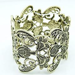 Dame Armbånd Mode Victoriansk erklæring smykker Skåret Hul Europæisk Legering Blomstformet Geometrisk form Smykker ForFest Daglig