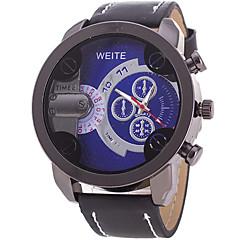 Masculino Relógio Esportivo / Relógio de Moda / Relógio de Pulso Quartz / Couro Banda Legal / Casual Preta / Laranja / Marrom marca