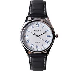 moda casual couro relógio pulseira masculina