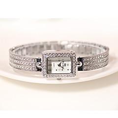 Dames Polshorloge Armbandhorloge Pavé horloge Kwarts Vrijetijdshorloge imitatie Diamond Legering Band Glitter Bedeltjes Elegante horloges