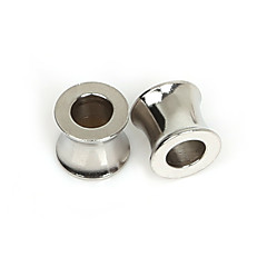 beadia 5pcs perlas de 8x9mm de acero inoxidable espaciadores para la fabricación de joyas (agujero de 5 mm)