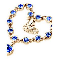 Naisten Ranneketjut Amuletti-rannekorut Love Muoti Säädettävä Zirkoni Metalliseos Heart Shape Korut Rakkaus Korut Käyttötarkoitus