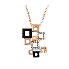 Women's Couple's Pendant Necklaces Crystal Crystal Cubic Zirconia Alloy Fashion Adorable Silver Golden Jewelry Wedding Party Daily Casual