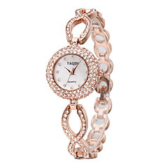 Women's Bracelet Watch Quartz Japanese Quartz / Alloy Band Sparkle Elegant Silver Rose Gold Brand