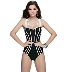 Sexy Female Striped Swimsuit