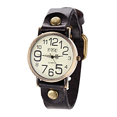 White Case Analog Quartz Leather Band No WaterResistant Casual Watch Fashion Watch