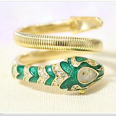 Bayanların Moda Saat Japon Kuvartz / Alaşım Bant Işıltılı / Halhal Gümüş / Altın Rengi Marka