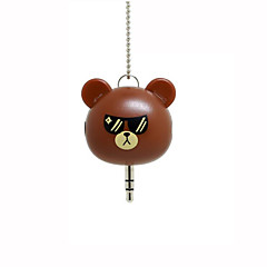 Cute Cartoon Characters One 3.5mm Audio Jack Turn Into Two Transform Headset deconcentrator