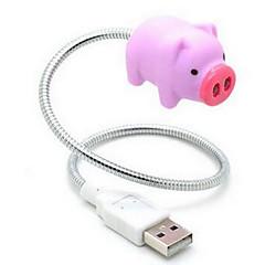 różowy świnia twórcze doprowadziły USB nightlight
