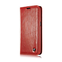 CaseMe Luxury Genuine Leather Wallet Card Slot Cover Flip Case With Stand For Samsung Galaxy Note 4/Note 5/Note Edge