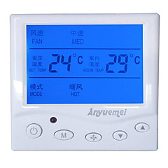 centrales de aire acondicionado controlador de temperatura de la bobina del ventilador del panel interruptor de tres velocidades