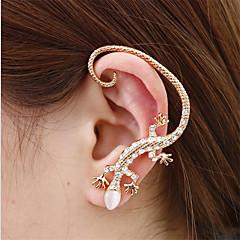 HUALUO@Korean Jewelry Popular Nightclub Bright Diamond Ear Hook Earrings Rose gold Earrings Exaggerated GeckoImitation Diamond Birthstone