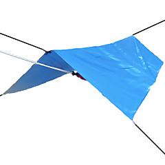 3-4 személy Huzat & Ponyva Sátor ponyva kemping sátor Vízálló Ultraibolya biztos Napvédő Ultra könnyű (UL) Ezüstbevonat mert Vadászat