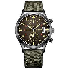 Hombre Reloj Deportivo / Reloj de Vestir / Reloj de Pulsera Cuarzo Calendario / Cronógrafo / / Tejido Banda Casual Verde Marca