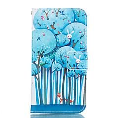til Samsung Galaxy a3 a5 2017 blå træ læder pung til Samsung Galaxy a5 a7 a3 a5 A7 2016 2017