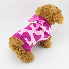 Dog Sweater Rose Winter / Spring/Fall Hearts Fashion, Dog Clothes / Dog Clothing
