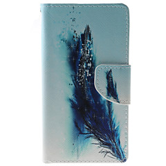 Feathers Pattern PU Leather Full Body Case with Stand and Card Slot for HTC Desire 626