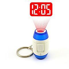 1pc kreative führte convenientmini-Projektion Uhr Nachtlicht