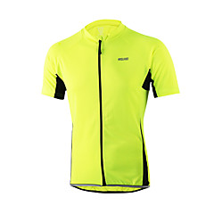 Arsuxeo® Maglia da ciclismo Per uomo Maniche corte BiciclettaTraspirante / Asciugatura rapida / Design anatomico / Zip anteriore /