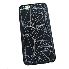 fekete-fehér háromszög mintás hátsó tok iPhone 6s 6 plus