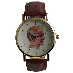 Popular Simple No Digital Human Brain Map Men's Watch