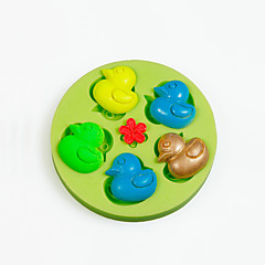 Mini Rubber Duck Silicone Mold for Chocolate Polymer Clay Candy Making Sugarcraft Tools Cake Decorations Mould