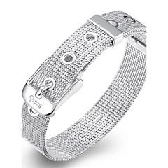 Dame Kæde & Lænkearmbånd Charm-armbånd På tværs Mode Punk Stil Yndig Personaliseret kostume smykker Sølv Smykker Slange Smykker Til