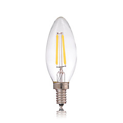 Dimmable 2W E14 180LM LED Filament Lamp Edison Glass Candle Lights Lighting For Chandelier(AC220-240V)
