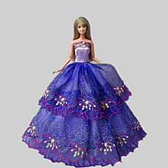 Party/Evening Dresses For Barbie Doll Purple Lace Dresses For Girl's Doll Toy