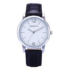 REBIRTH Dames Modieus horloge Polshorloge Kwarts / PU Band Vrijetijdsschoenen Zwart Rood Bruin Bruin Rood Zwart/Wit Zwart