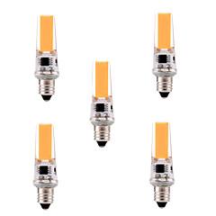5W E11 Luci LED Bi-pin T 1 COB 400-500 lm Bianco caldo / Luce fredda Intensità regolabile / Decorativo AC 110-130 V 5 pezzi