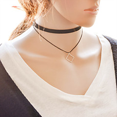 Necklace Choker Necklaces Pendant Necklaces Layered Necklaces Tattoo Choker Jewelry Daily CasualTattoo Style Double-layer Fashion