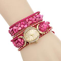Women's Fashion Watch Bracelet Watch Simulated Diamond Watch / Imitation Diamond Quartz Leather Band Casual Multi-Colored