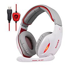 Sades SA902 Cascos(cinta)ForReproductor Media/Tablet / ComputadorWithCon Micrófono / DJ / Control de volumen / Radio FM / De Videojuegos
