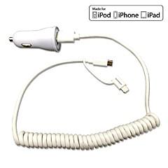 FCC CE chargeur de voiture certifié 1a / 2.1a sortie double + pomme mfi certifié la foudre + Câble micro USB de ressort pour 6s iphone