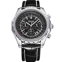 Masculino Relógio Esportivo / Relógio Elegante / Relógio de Pulso Quartz Calendário / Cronógrafo / Noctilucente / / Couro Banda Casual