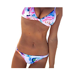 European and American Fashion Printing Sexy split Swimsuit
