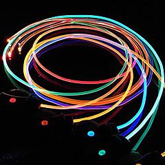 1 개 색상 변화 주도 신발 레이스 멋진 깜박임 방수 야간 조명을