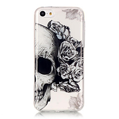 Kompatibilitás iPhone X iPhone 8 iPhone 6 iPhone 6 Plus tokok IMD Ultra-vékeny Átlátszó Minta Hátlap Case Koponya Puha Hőre lágyuló