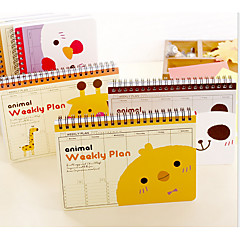 0341 South Korea Stationery Creative Cartoon Animal Coil Calendar Program Notebook Notebook