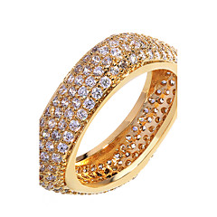 Brand New Square Designed White Gold Plating Women Luxury Rings Cubic Zirconia Free Allergy Engagement Jewelry Gift